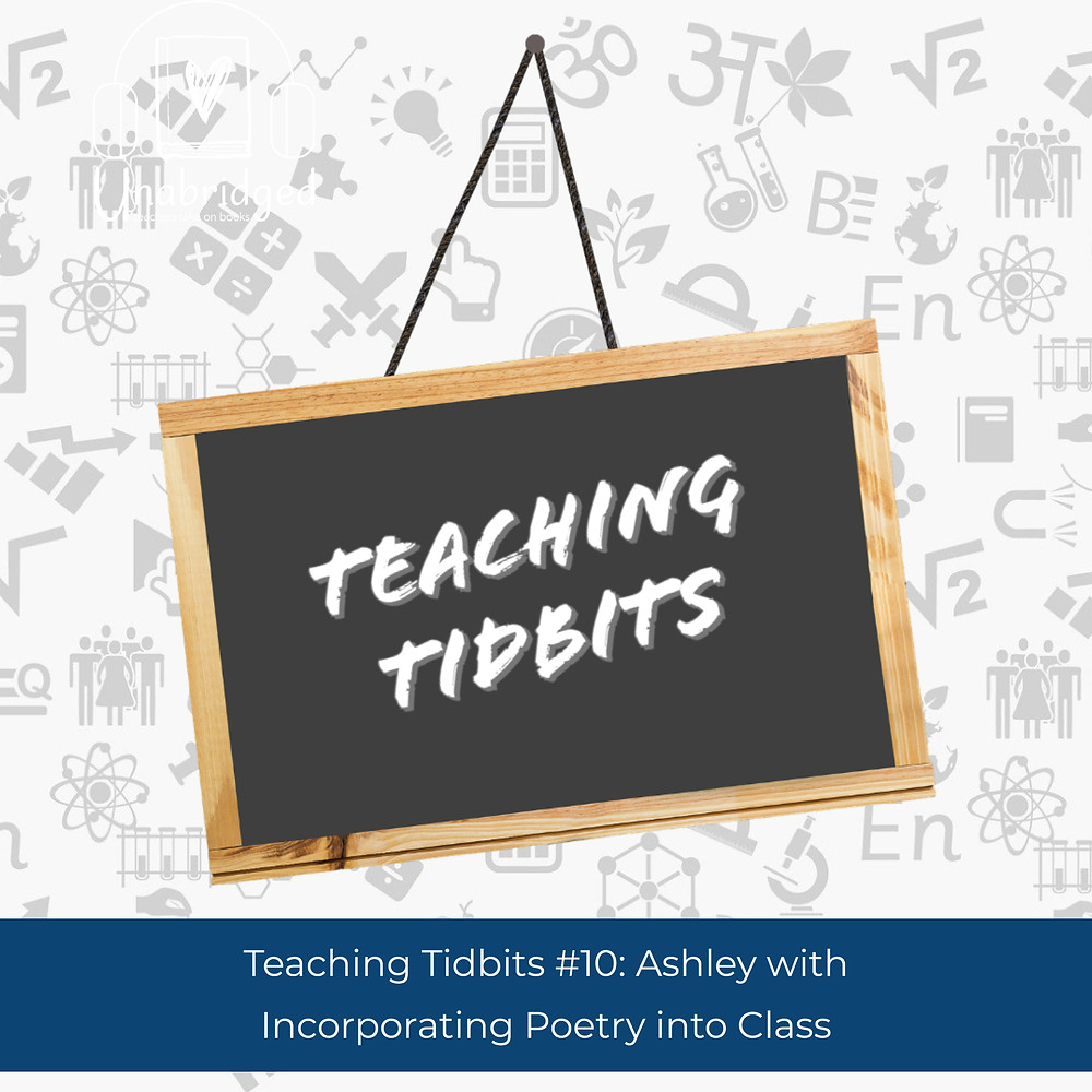 Teaching Tidbits words on Chalkboard - Incorporating Poetry into Class