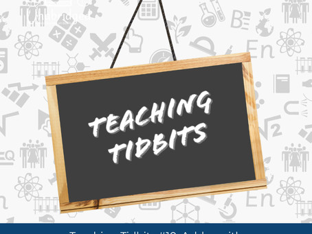 Teaching Tidbits 10: Incorporating Poetry into Class