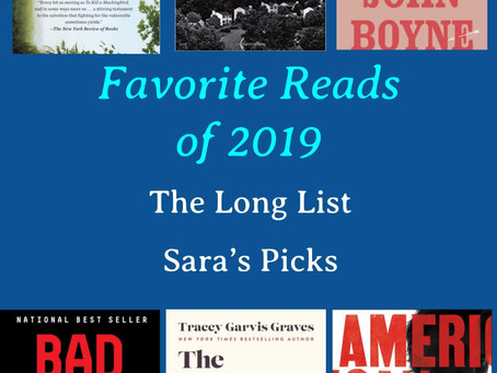 Best Reads of 2019--Sara's Picks