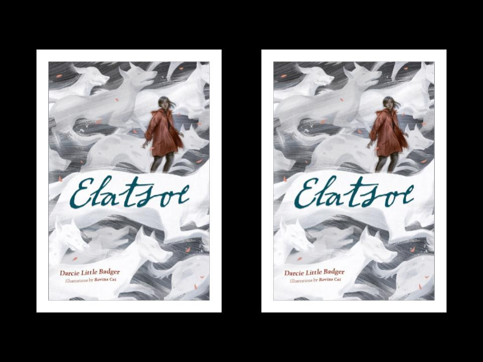Book cover of Darcie Little Badger's Elatsoe - the cover appears twice