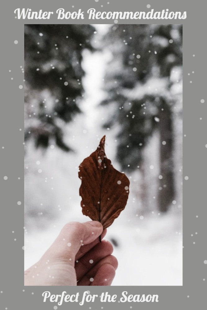 Leaf in Snow with Words Winter Book Recommendations Perfect for the Season