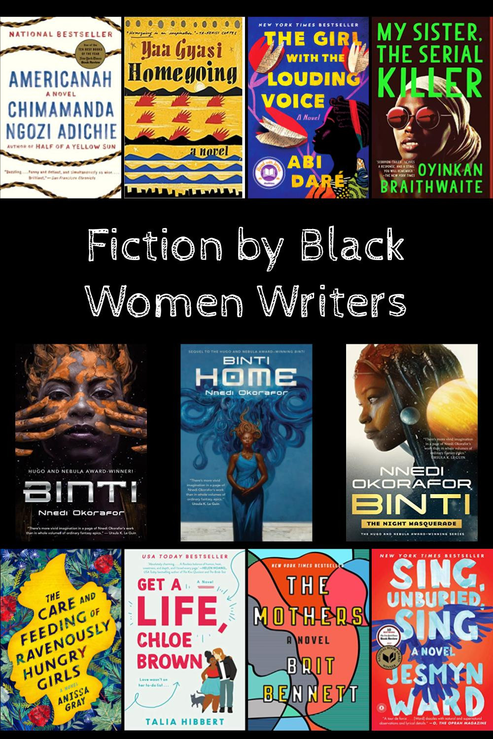 Collage of book covers by Black authors