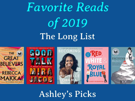 Best Reads of 2019 - Ashley's Picks