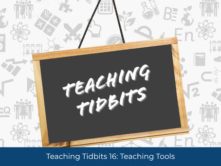 Teaching Tidbits 16: Teaching Tools to Use on the Go