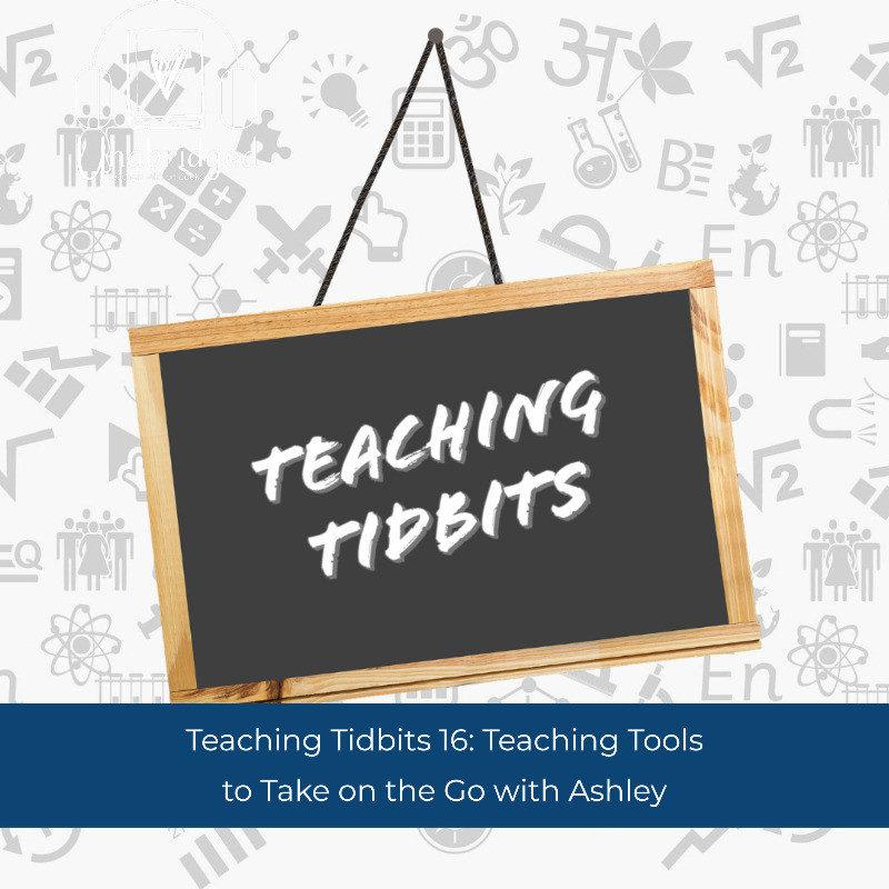 Teaching Tidbits words on Chalkboard with Title Teaching Tools to Take on the Go