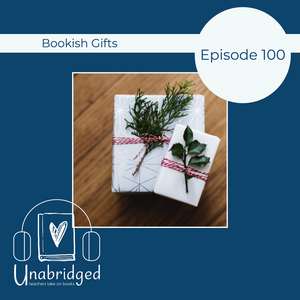 Image showing photograph of two wrapped presents and podcast logo
