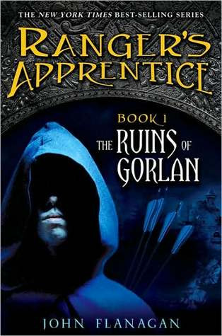 book cover of John Flanagan's The Ruins of Gorlan, Ranger's Apprentice series book 1