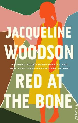 Book cover of Jacqueline Woodson's Red at the Bone