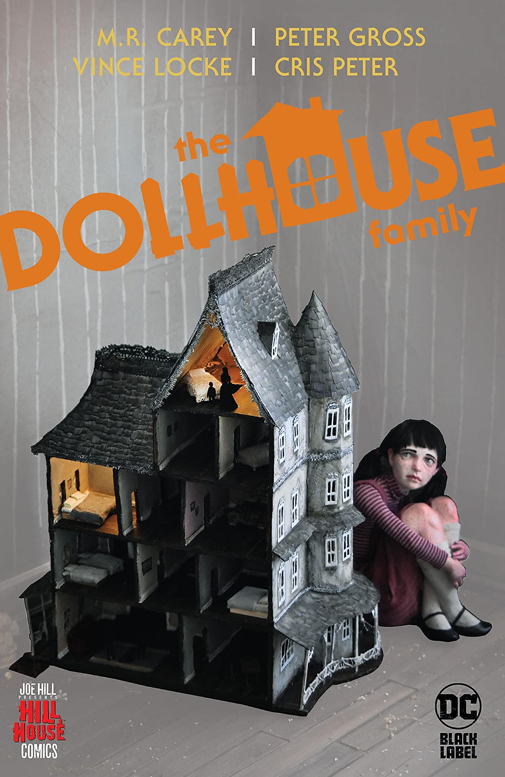 Book cover of M. R. Carey, Peter Gross, Vince Locke, and Cris Peter's The Dollhouse Family
