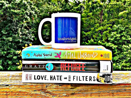 39 - Global Read Aloud with LOVE, HATE & OTHER FILTERS, AMAL UNBOUND, and REFUGEE