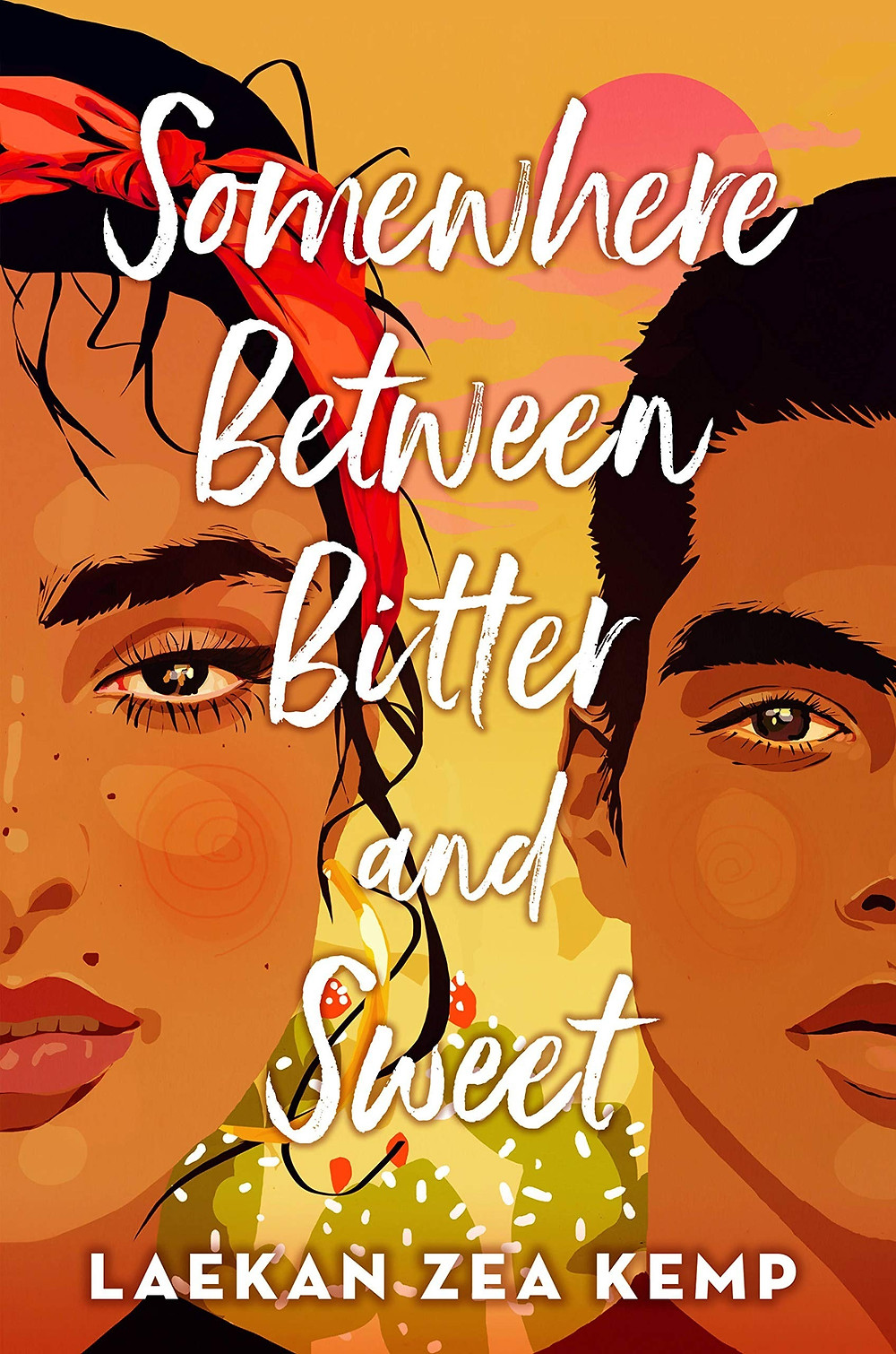 Book cover of Somewhere Between Bitter and Sweet by Laekan Zea Kemp