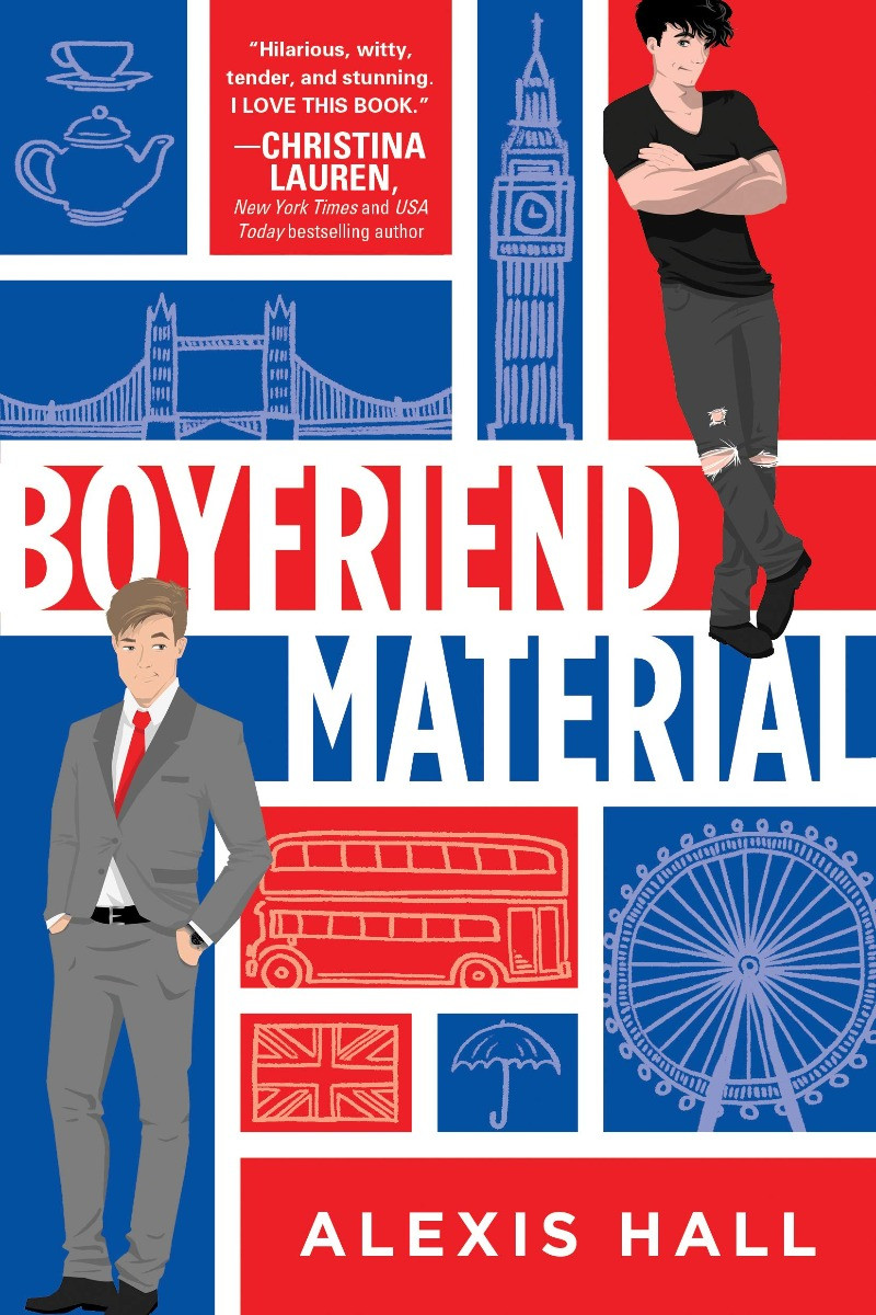 Book cover of Alexis Hall's Boyfriend Material