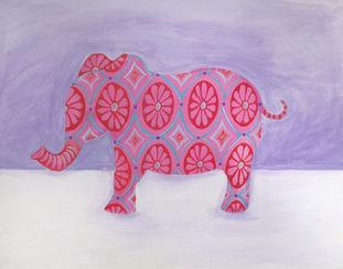 Ashley Klug, children's art, nursery art, animal art