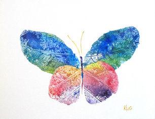 "Ashley Klug ""Butterfly"" Leaf Monoprints Series 1, children's art, nursery art, animal art, Ashley Klug Inspired"