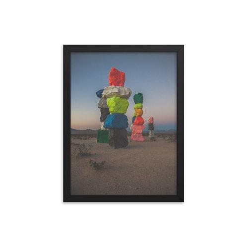 Seven Magic Mountains Framed Poster