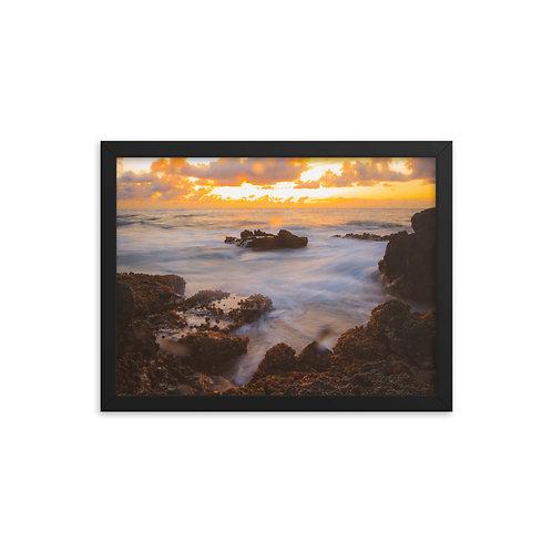 Makapu'u Sunset Framed Poster