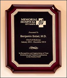 piano rosewood plaque, plaque