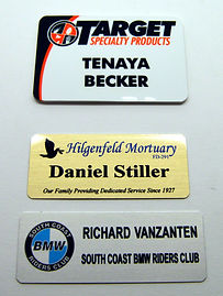 name badges, custom name badges, engraved name badges