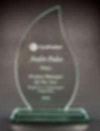 jade crystal, crystal awards, glass awards
