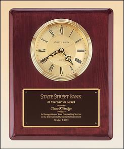 rosewood clock plaque, plaque