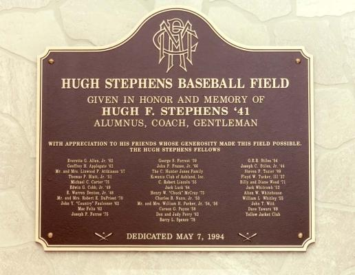 Ballpark plaque