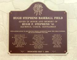 Ballpark plaque