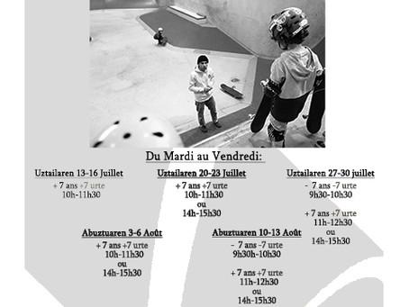 Stages de skate Juillet/Août 2021
