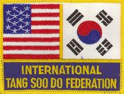 International Tang Soo Do Federation Flag Patch