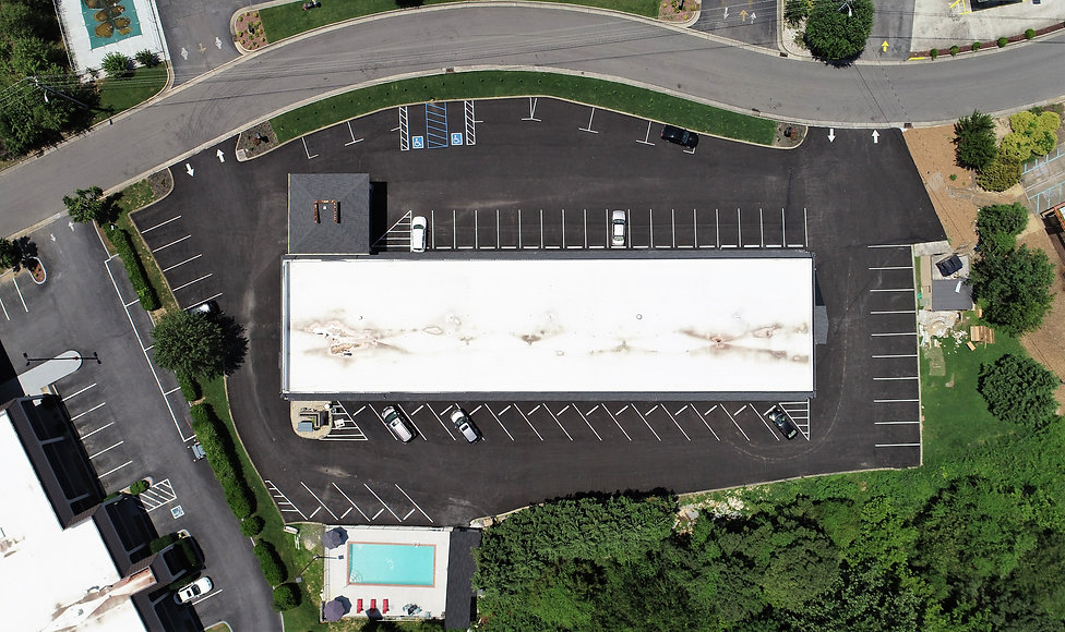 drone photograph construction Chattanooga
