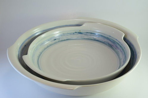 Seascape Serving bowls with handles
