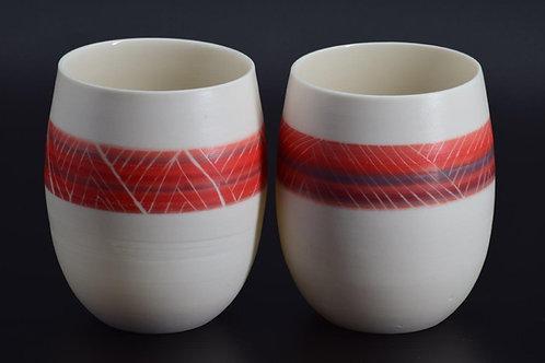 Beaker - Peru Red and Grey