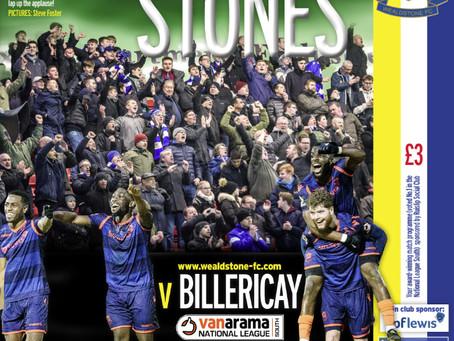 Preview - Billericay Town - 2 Feb - KO 15:00