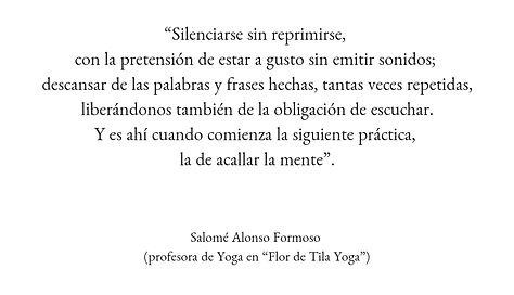 silencio, meditacion, coruña, yoga, flor de tila
