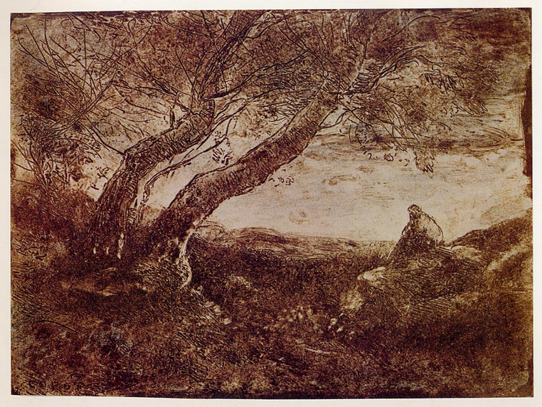 Clich Verre by 19th century French artist Jean-Baptiste-Camille Corot.