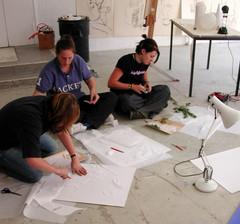 Jerwood Drawing workshop with GCSE students.