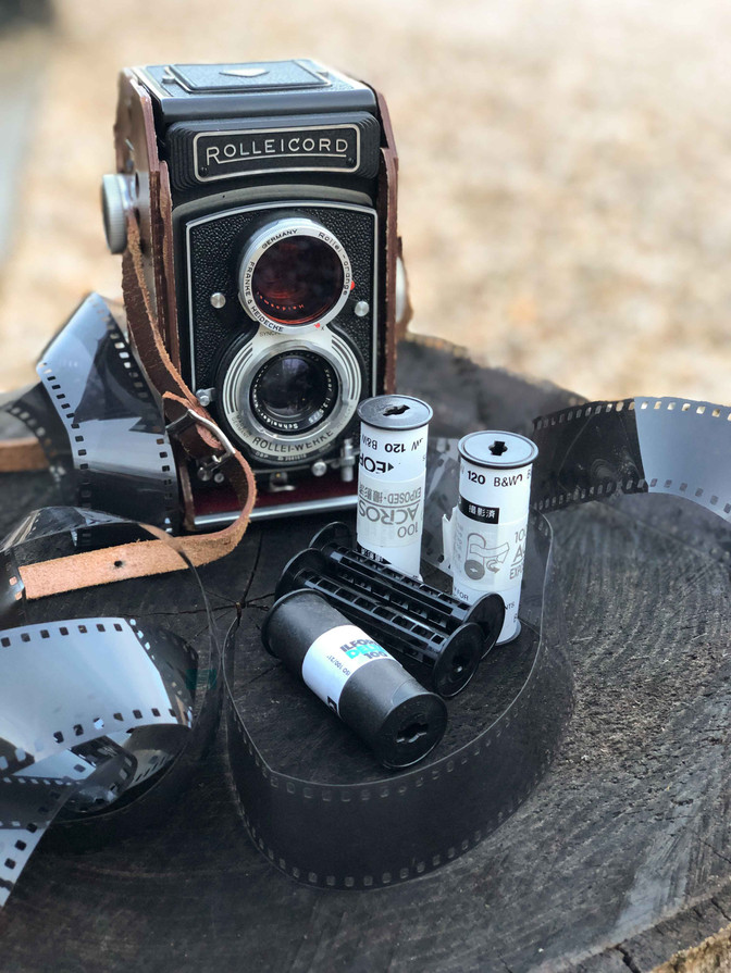 Rolle Cord Twin Reflex Medium Format Camera with 120 films.