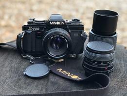 Minolta 35mm Camera with Lenses