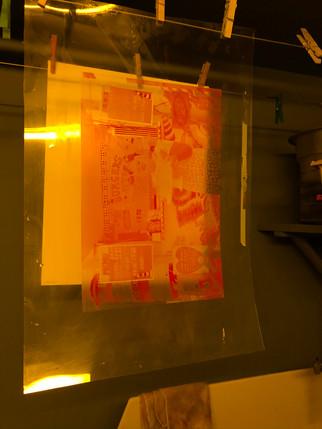 Three colour carbon printing workshop