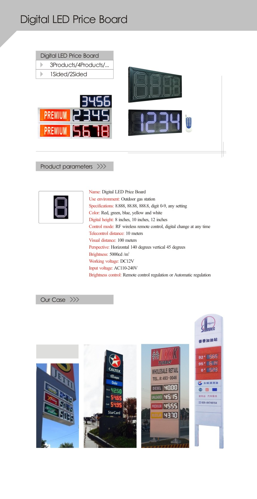Digital LED Price Board