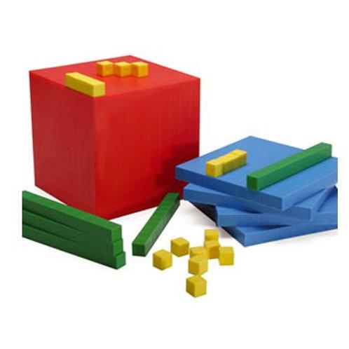 Bloques Base 10 (Multibase) colores 136 pzas.