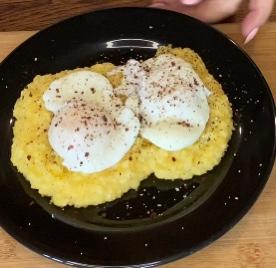 Kakawzawabo i Waw (Corn Mush and Eggs)