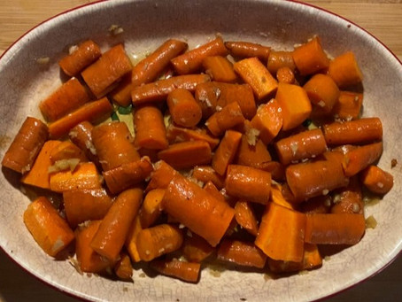 Bodéwadmi Carrots, Maple Syrup & Ginger