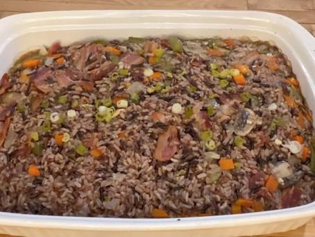 Neshnabe Mnomen Nagen (Wild Rice Dish)