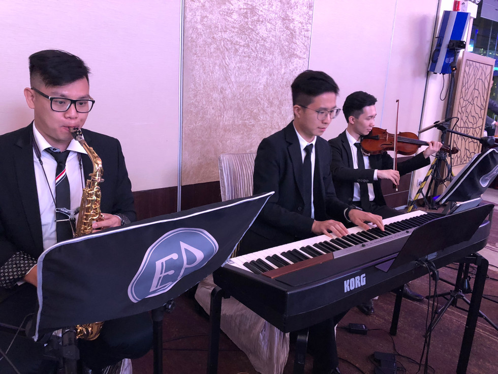 Wedding live music (Piano+Violin+Saxophone)