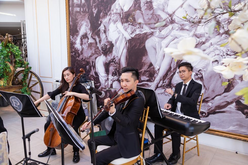 Wedding live music (Keyboard, Violin & Cello)