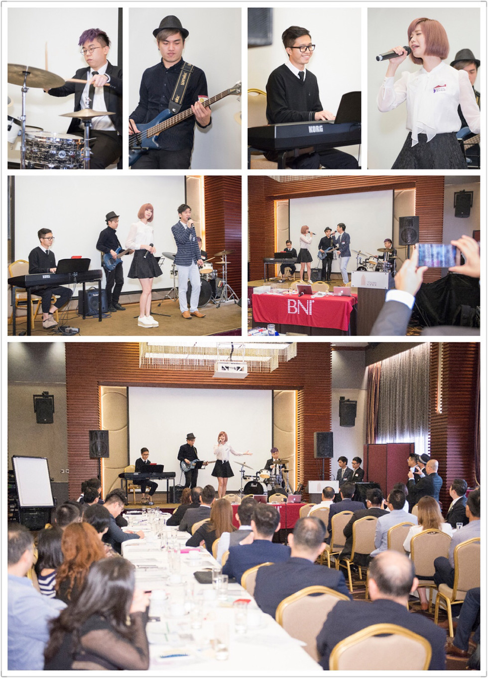 Live Band Performance 現場樂隊表演 (4 pieces band) - BNI live music performance