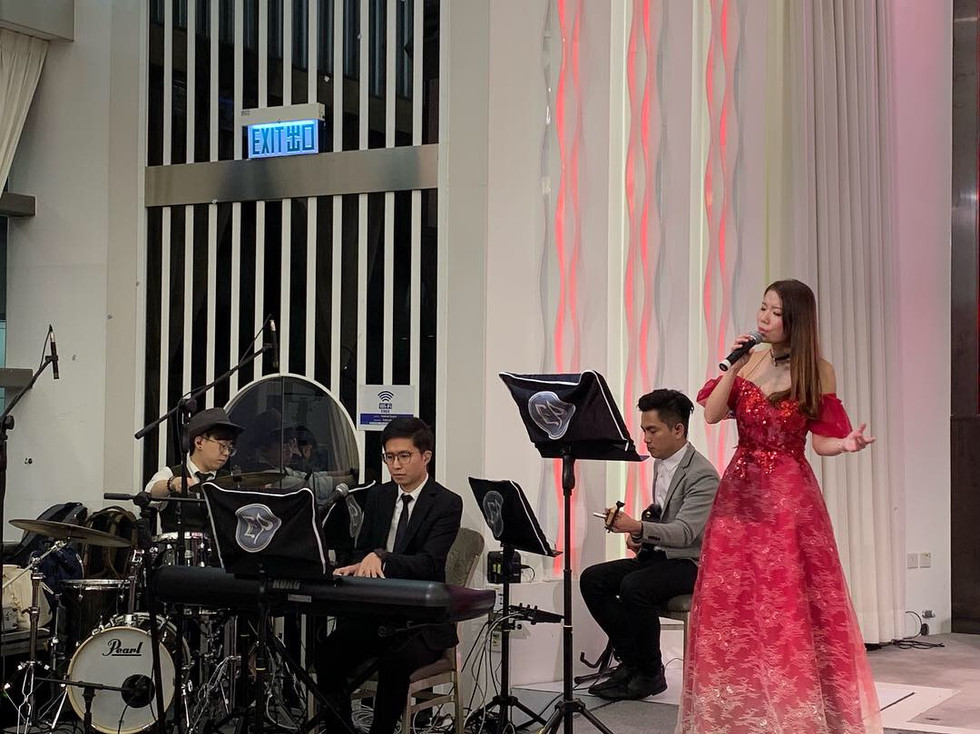 Annual dinner live band (3 pieces band with vocal)