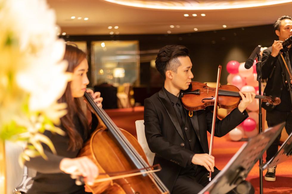 Wedding music performance (String duet & String quartet)