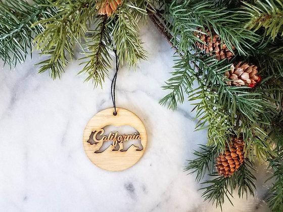 California Bear Ornaments