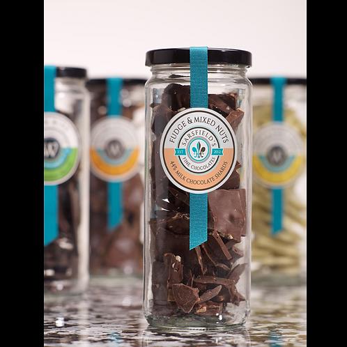 Fudge & Mixed Nuts Milk Shards Jar